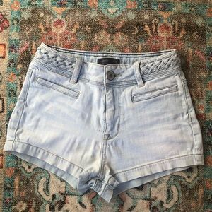 Kendall & Kylie Braided High Waisted Shorts